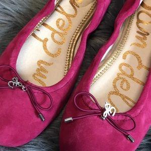 Sam Edelman Felicia Ballet Flats Pink Suede Size 6